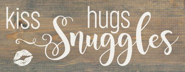 kiss, hugs, snuggles | Cute Wholesale Wood Signs | Sawdust City Wood Signs