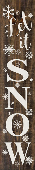 Let It Snow Farmhouse Sign | Wholesale Winter Signs | Sawdust City Wood Signs