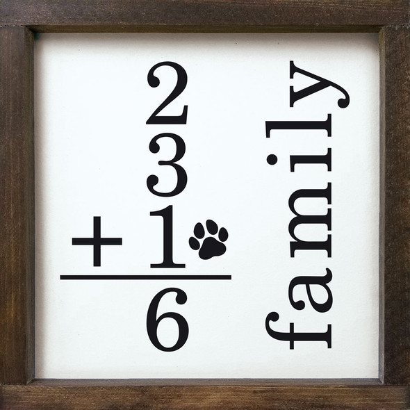 Family Math Sign + Pet Custom Sign | Personalized Wholesale Signs | Sawdust City Wood Signs