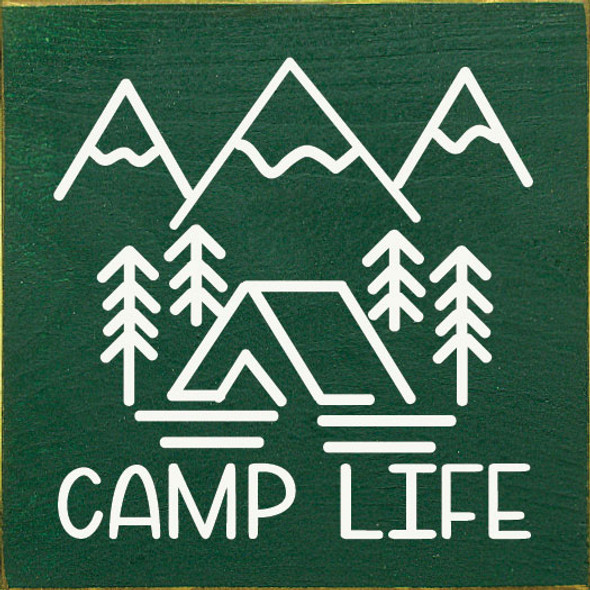 Camp Life | Wood Camping Sign | Sawdust City Wholesale