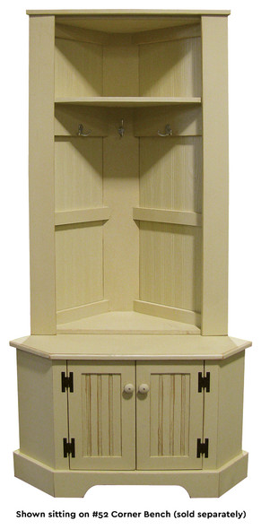 "Corner Locker 50"" tall | Wood Furniture Wholesale | Sawdust City Wholesale"