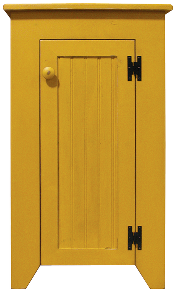 Shown in Old Mustard with beadboard door
