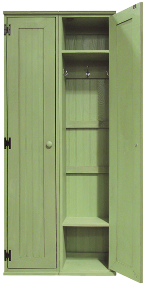 Two locker cabinets shown in Old Celery (each sold separately)