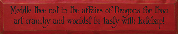Shown in Old Red with Black lettering