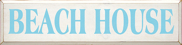 Shown in Old Cottage White with Light Blue lettering