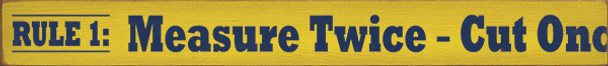 Shown in Old Yellow with Blue lettering