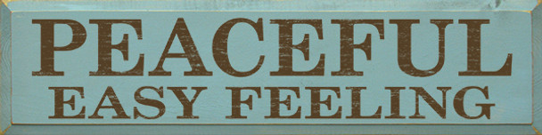 Shown in Old Sea Blue with Brown lettering