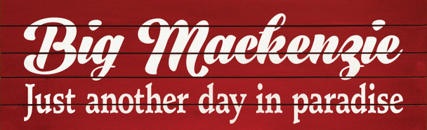 Option 1 - Top Line Script (Shown in Old Red with Cottage White lettering)