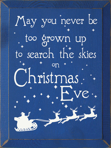 9x12 in. Wood Christmas Sign in Old Royal & Cottage White