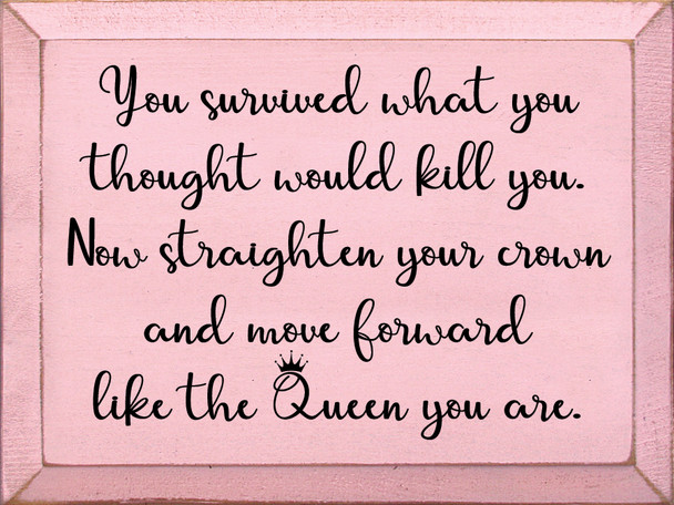 9x12 in. Inspirational Wood Sign in Old Baby Pink & Black