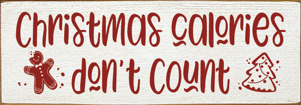 Simple Wood Sign in Old Cottage White & Red