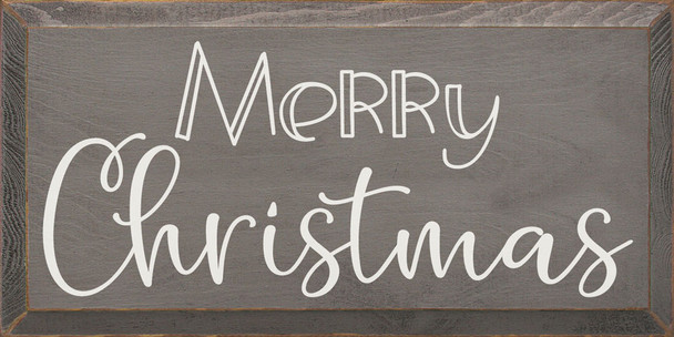 Merry Christmas (2020) | Sawdust City Wood Signs - Old Anchor Gray & Cottage White