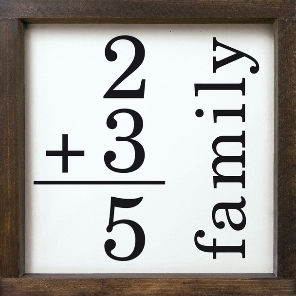 Family Math Sign (custom) | Sawdust City Wood Signs