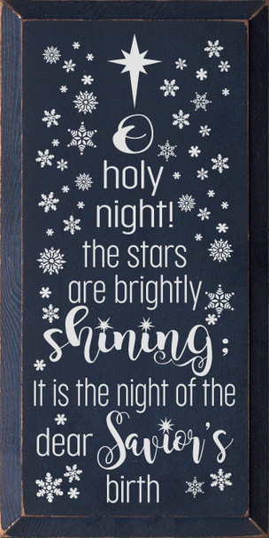 O holy night! Sign | Wholesale Christmas Signs | Sawdust City Wood Signs