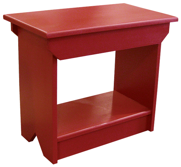 Shown in Solid Red