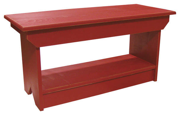 Wholesale Coffee Table/Bench | Solid Pine Bench Wholesale | In Old Cottage Red