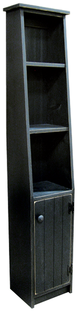 Shown in Old Black with grooved door & cantback style