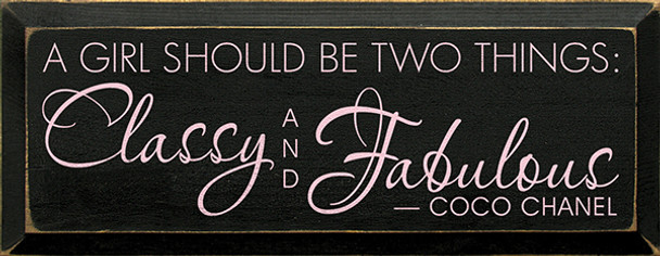 Shown in Old Black with Baby Pink lettering
