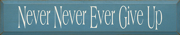 Shown in Old Williamsburg Blue with Cream lettering