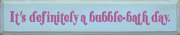 Shown in Old Baby Blue with Plum lettering