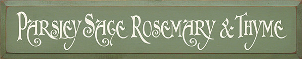 Shown in Old Sage with Cream lettering