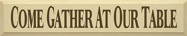 Shown in Old Cream with Brown lettering