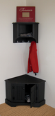 Shown in Old Black with Beadboard doors and coordinating #56 Corner Shelf (sold separately)