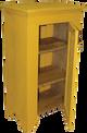Shown in Old Mustard with beadboard door