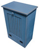 Wood Tilt-Out Trash Bin | Pine Furniture Made in the USA | Sawdust City Trash Bin in Old Williamsburg Blue