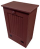Wood Tilt-Out Trash Bin | Pine Furniture Made in the USA | Sawdust City Trash Bin in Solid Burgundy