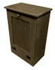 Wood Tilt-Out Trash Bin | Pine Furniture Made in the USA | Sawdust City Trash Bin in Old Brown