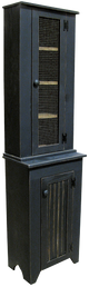 Shown in Old Black with a Screen Door, sitting on top of #71 Jelly Cabinet (sold separately)