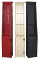 Shown in Old Red, Old Cottage White, and Old Black with grooved doors & cantback style