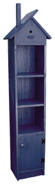 Shown in Old Blue with a grooved door