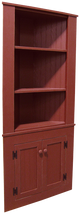 Shown in Old Burgundy with beadboard doors (split in two pieces for shipping)