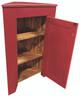 Shown open in Old Red with beadboard door