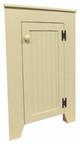 Shown closed in Solid Cream with beadboard door