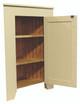 Shown open in Solid Cream with beadboard door
