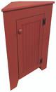 Shown in Soild Red with beadboard door