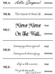 Lettering Style Options