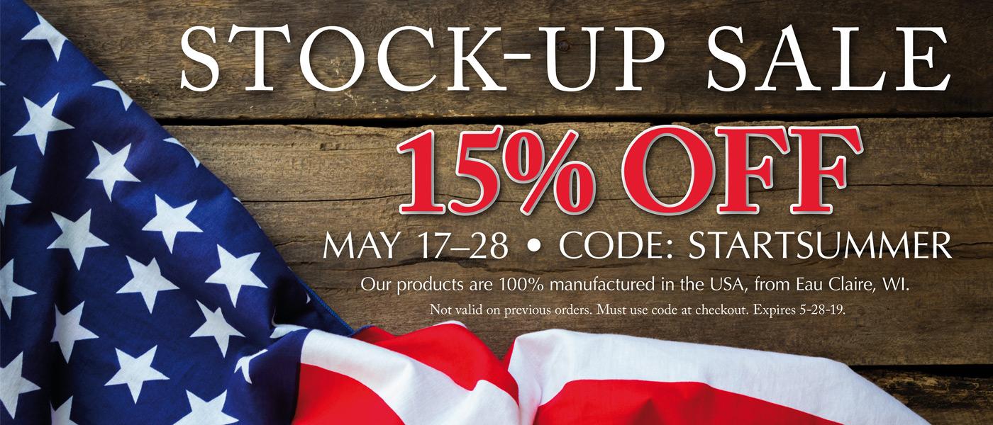 15% Off May 17-28, Code: STARTSUMMER