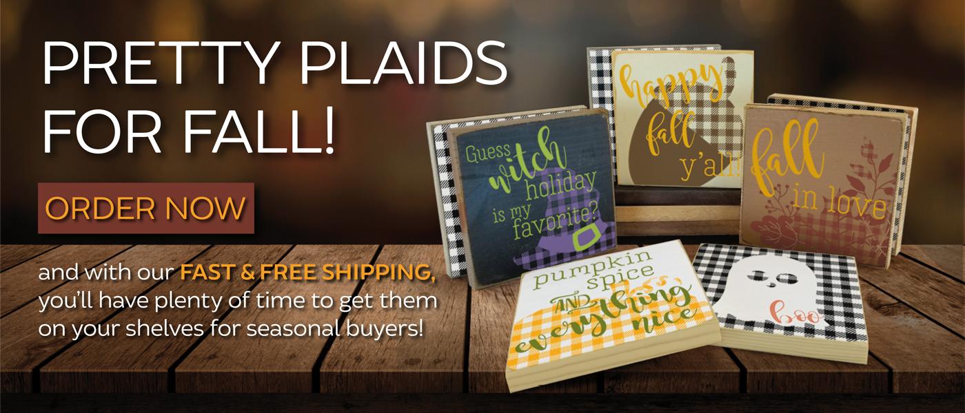 New Plaid Pattern Signs - Fall, Halloween, Winter & Christmas Designs