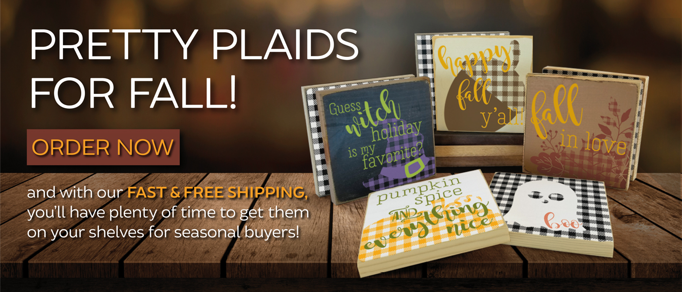 New Plaid Pattern Signs - Fall, Halloween, Winter & Christmas Designs