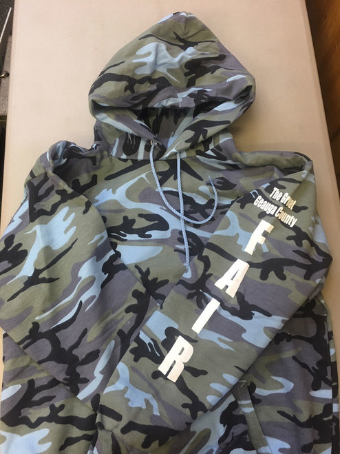 Adult Hoodie in Blue Camo
