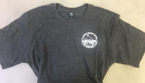 Adult Men Short Sleeve Shirt in Charcoal Grey