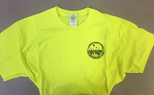 Adult Men Short Sleeve Shirt in Safety Yellow