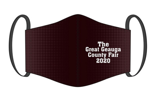 Face Mask - The Great Geauga County Fair Maroon Digital Print