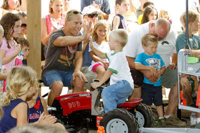 Kiddie Tractor Pull at Geauga County Fair