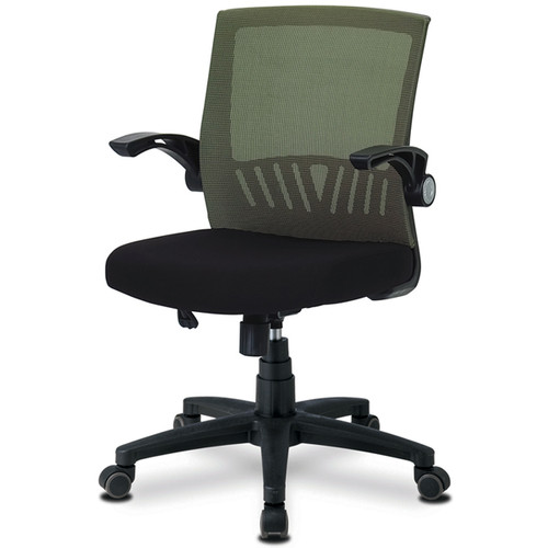 KLIIG FLIP OFFICE CHAIR (The best space-saving chair with flip up arms. If your table has drawers or you have limited space, this is your chair! Excellent back support.) MADE IN KOREA.
