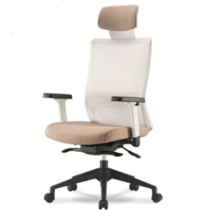 KLIIG SYNCHRO LUX LUMBAR OFFICE CHAIR (Fully featured mesh chair with great lumbar support, sliding seat pan, adjustable arms and lockable tilt)